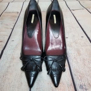 Max Studio All Leather Kiltie Oxford Pointed Heels
